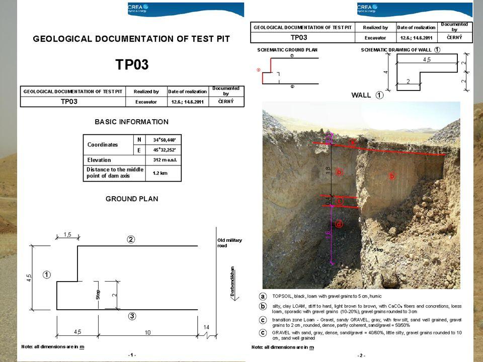 Geotechnický průzkum pro pozemní komunikace 20Zemní konstrukce 2011/2012 Podrobný průzkum: • Vychází se ze znalostí předchozích etap průzkumu • Doplní se přímá průzkumná díla dle tabulky • Terénní zkoušky a měření – určení fyzikálně mechanických parametrů hornin tvořících budoucí zemní těleso (svahy, pláň vozovky v zářezu), přetvárných vlastností zemního masívu (kde vlivem přitížení nebo odlehčení dojde ke změnám napjatosti a deformacím, mechanických vlastností hornin určených k zabudování do násypu pláně