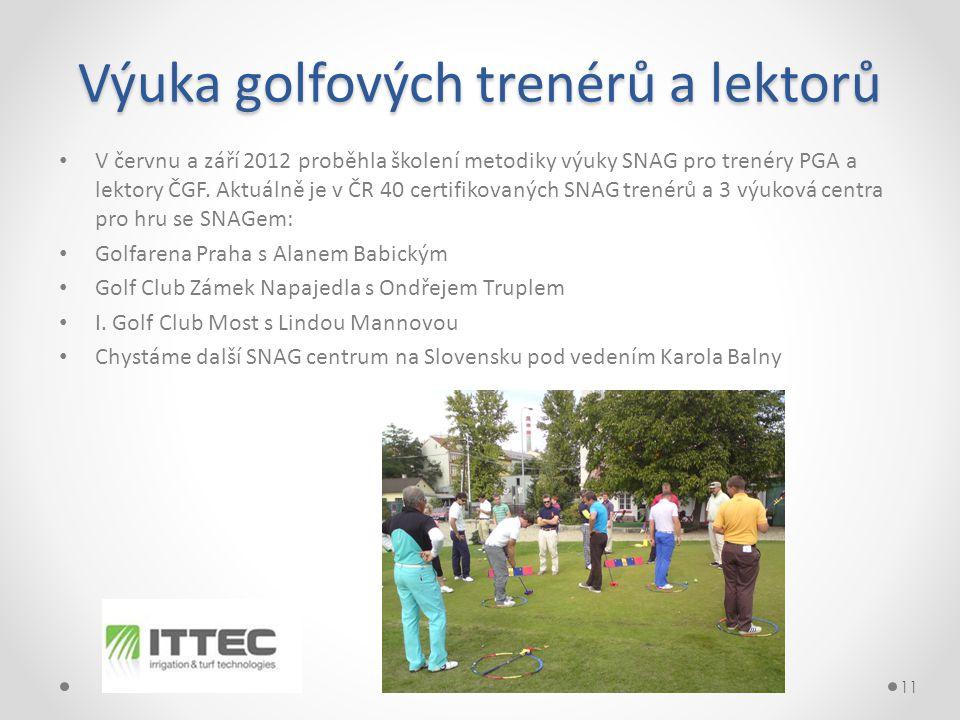 Výuka golfových trenérů a lektorů • V červnu a září 2012 proběhla školení metodiky výuky SNAG pro trenéry PGA a lektory ČGF.