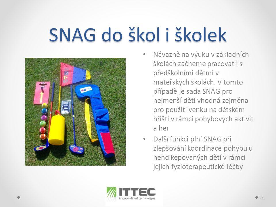 SNAG do škol i školek • Návazně na výuku v základních školách začneme pracovat i s předškolními dětmi v mateřských školách.