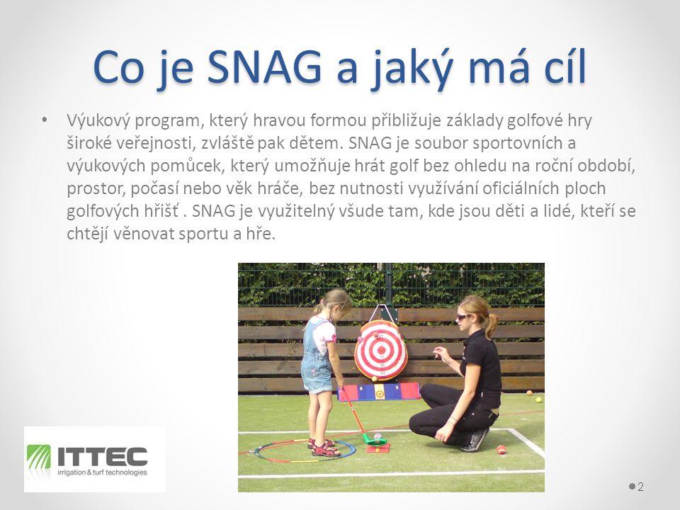 Co je SNAG a jaký má cíl • Výukový program, který hravou formou přibližuje základy golfové hry široké veřejnosti, zvláště pak dětem.