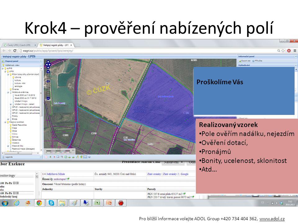 Ukázka umístění polností Pro bližší informace volejte ADOL Group +420 734 404 362, www.adol.cz