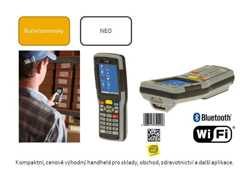 Ruční terminályNEO Kompaktní, cenově výhodný handheld pro sklady, obchod, zdravotnictví a další aplikace.
