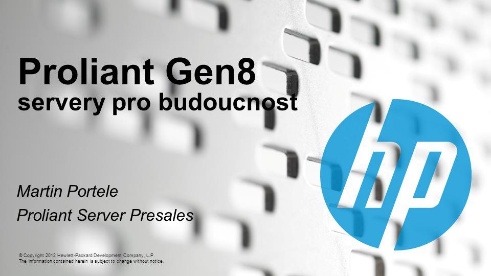 12 Celistvá správa pro kompletní Konvergovanou Infrastrukturu HP Management software Network Servers Storage Insight Control se integruje do VMware vCenter