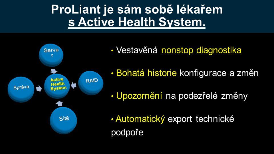 ProLiant je sám sobě lékařem s Active Health System.