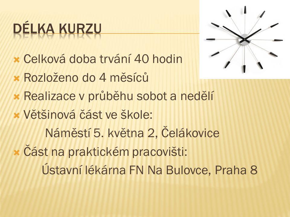 Odborný garant: PharmDr.Zbyněk Sklenář, PhD. Lektoři: PharmDr.
