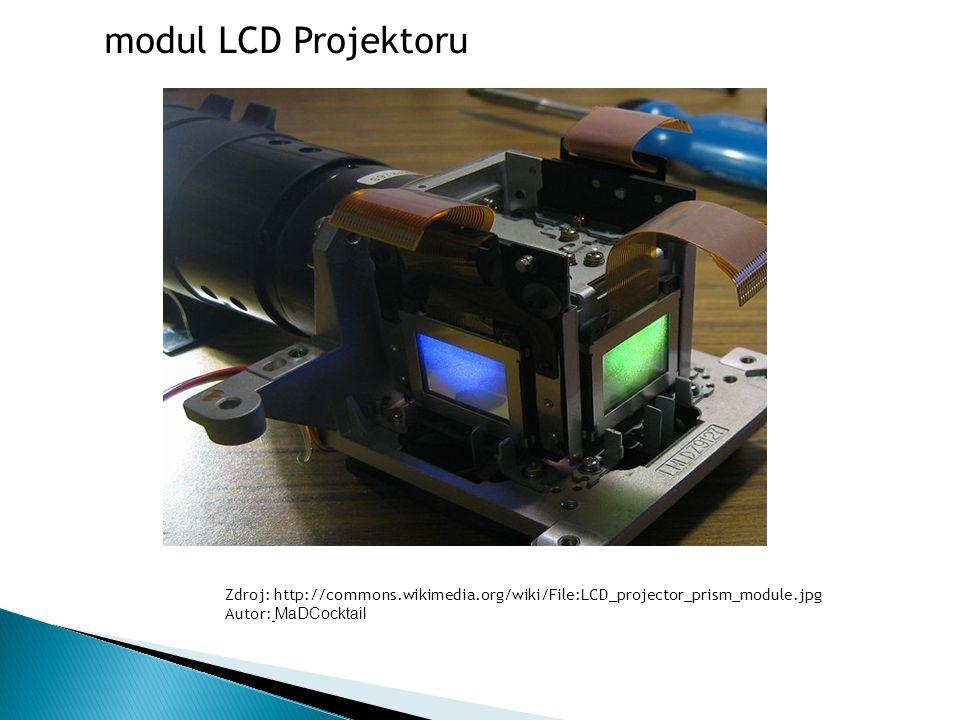 Zdroj: http://commons.wikimedia.org/wiki/File:LCD_projector_prism_module.jpg Autor: MaDCocktail modul LCD Projektoru
