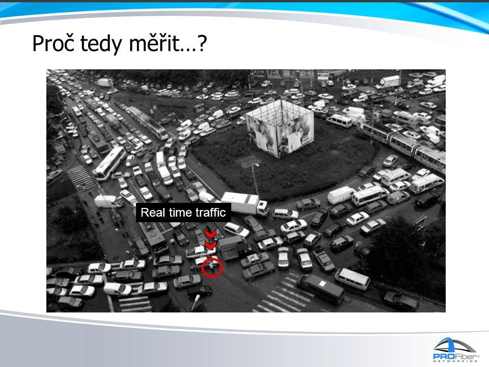 Proč tedy měřit…? Real time traffic