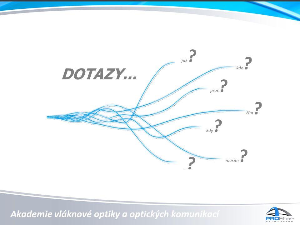 Akademie vláknové optiky a optických komunikací DOTAZY...