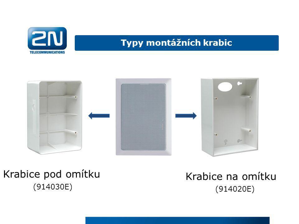 Krabice na omítku (914020E) Krabice pod omítku (914030E) Typy montážních krabic