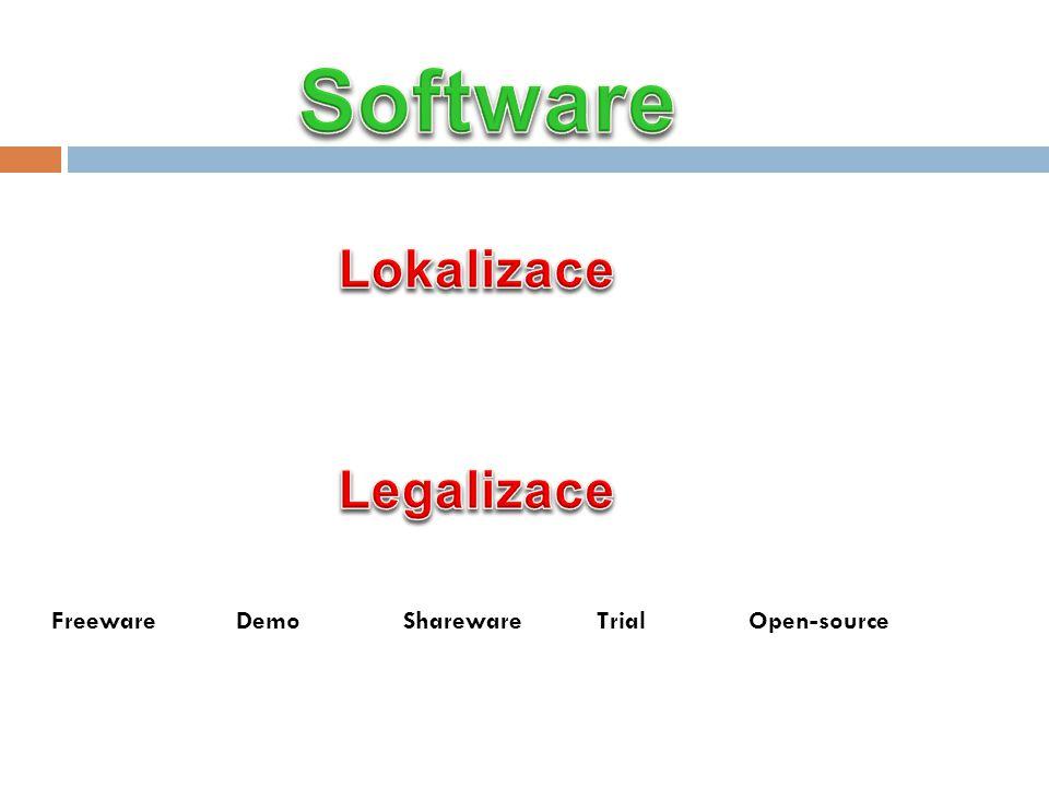 Freeware Demo Shareware Trial Open-source