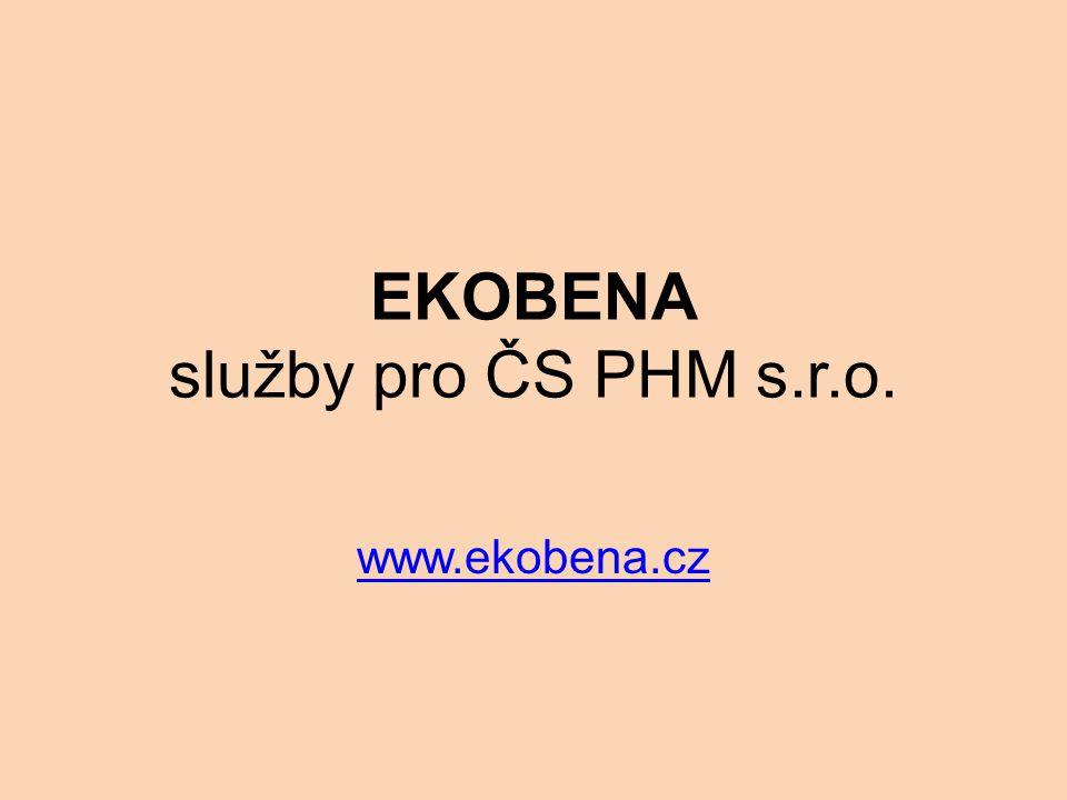 EKOBENA služby pro ČS PHM s.r.o. www.ekobena.cz