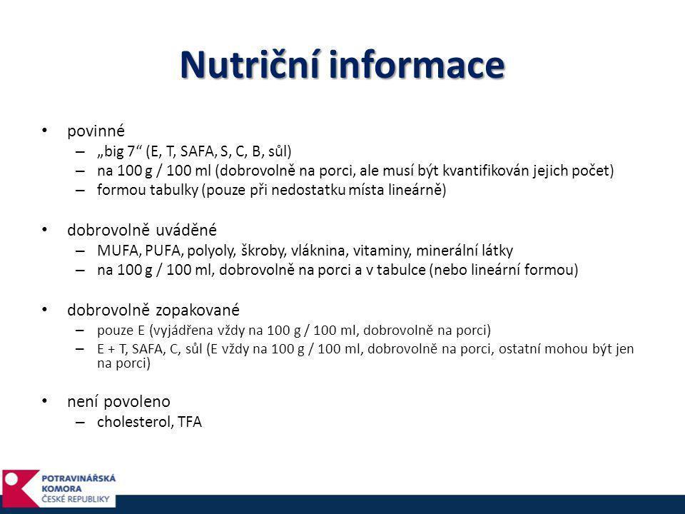 Výživové údaje na 100 g / 100 mlna porci% ref.
