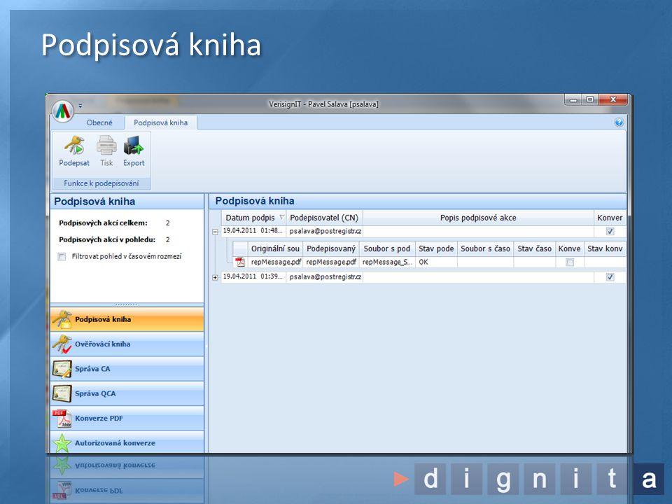 Podpis obecného dokumentu •Konverze do pdf/A a pak podpis PDF dokumentu  •Externí elektronický podpis •Vznikne soubor s příponou.