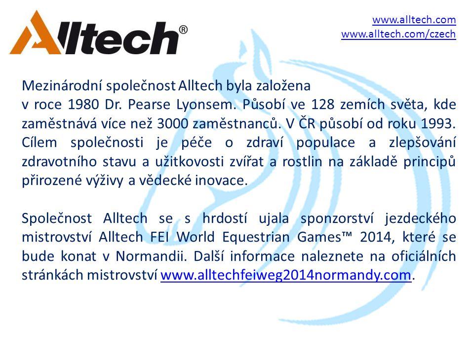Mezinárodní společnost Alltech byla založena v roce 1980 Dr.