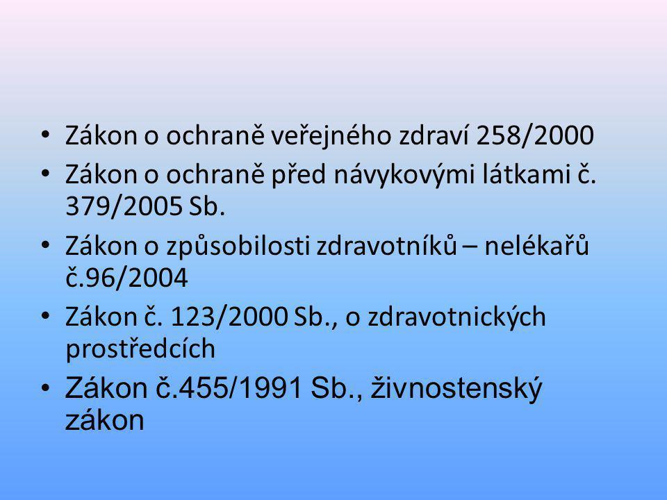 • Vyhláška o činnostech zdravotnických pracovníků 55/2011 • Vyhláška, kterou se stanoví min.