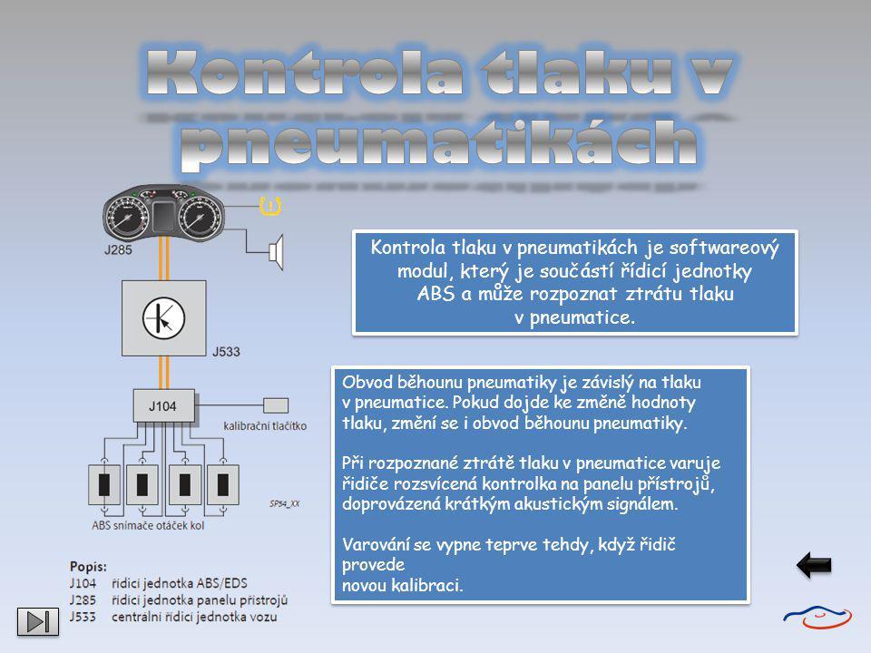 Kontrola tlaku v pneumatikách je softwareový modul, který je součástí řídicí jednotky ABS a může rozpoznat ztrátu tlaku v pneumatice. Kontrola tlaku v