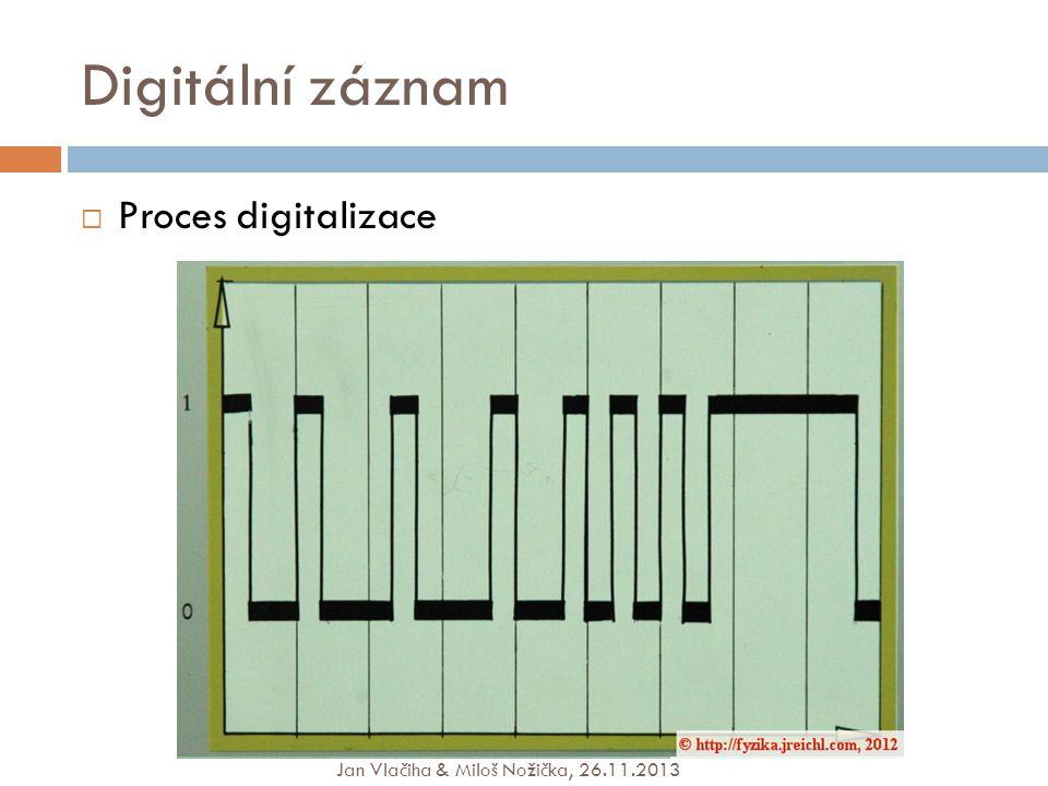 Digitální záznam  Proces digitalizace Jan Vlačiha & Miloš Nožička, 26.11.2013