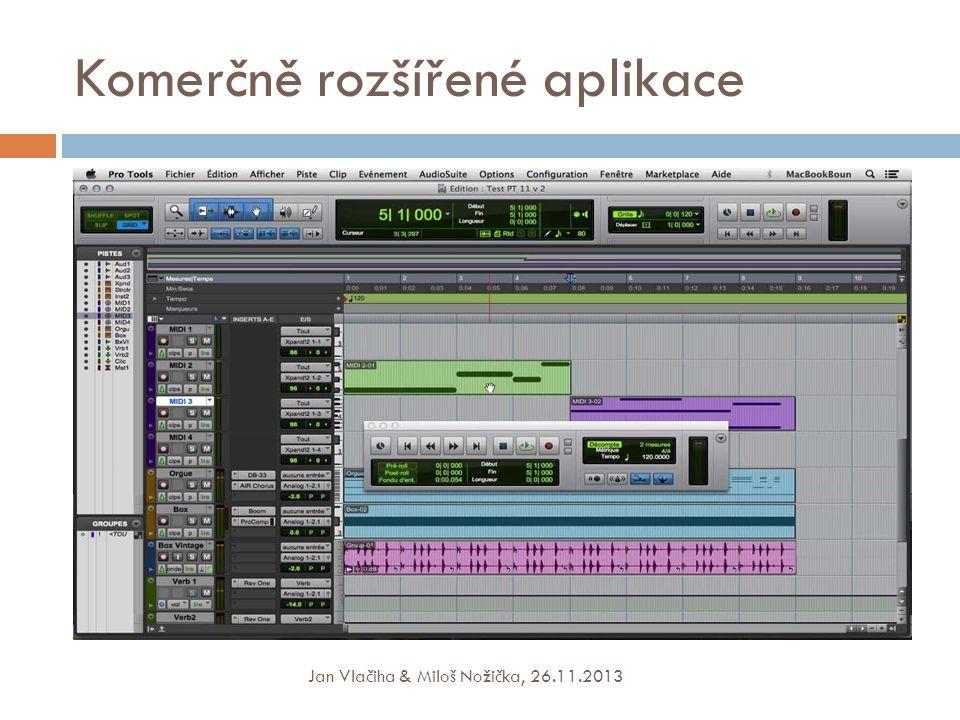 Komerčně rozšířené aplikace Jan Vlačiha & Miloš Nožička, 26.11.2013