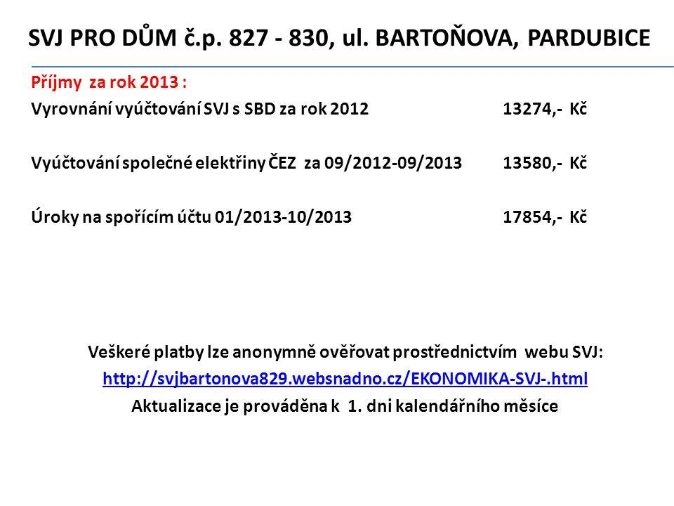 SVJ PRO DŮM č.p.827 - 830' ul.