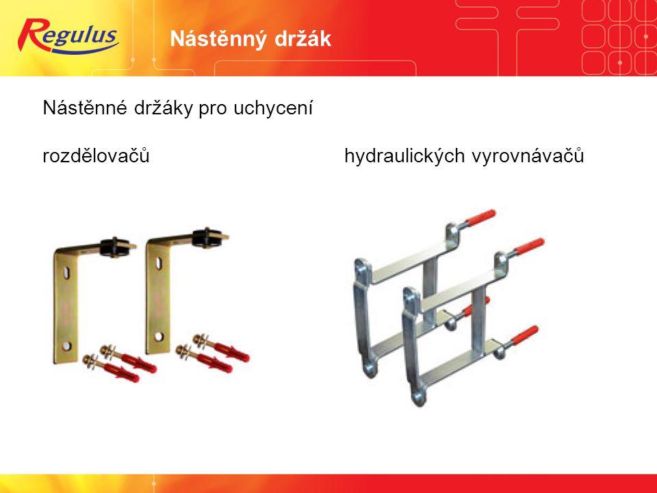 Nástěnný držák Nástěnné držáky pro uchycení rozdělovačů hydraulických vyrovnávačů