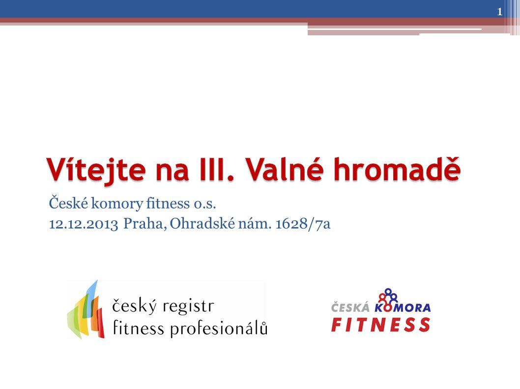 České komory fitness o.s. 12.12.2013 Praha, Ohradské nám. 1628/7a 1