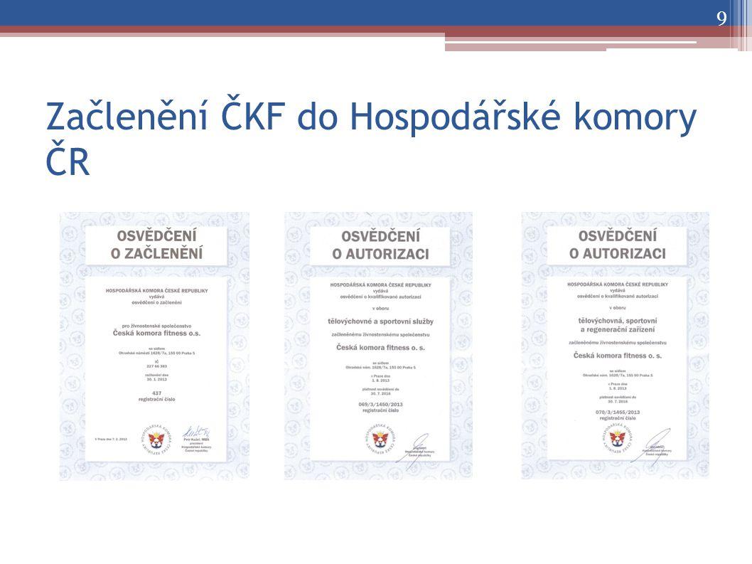 Začlenění ČKF do Hospodářské komory ČR 9