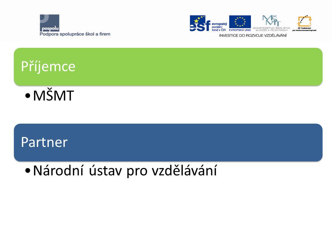  Společný individuální projekt národní MŠMT a NÚV v OP VK s cílovou skupinou SŠ celé ČR.