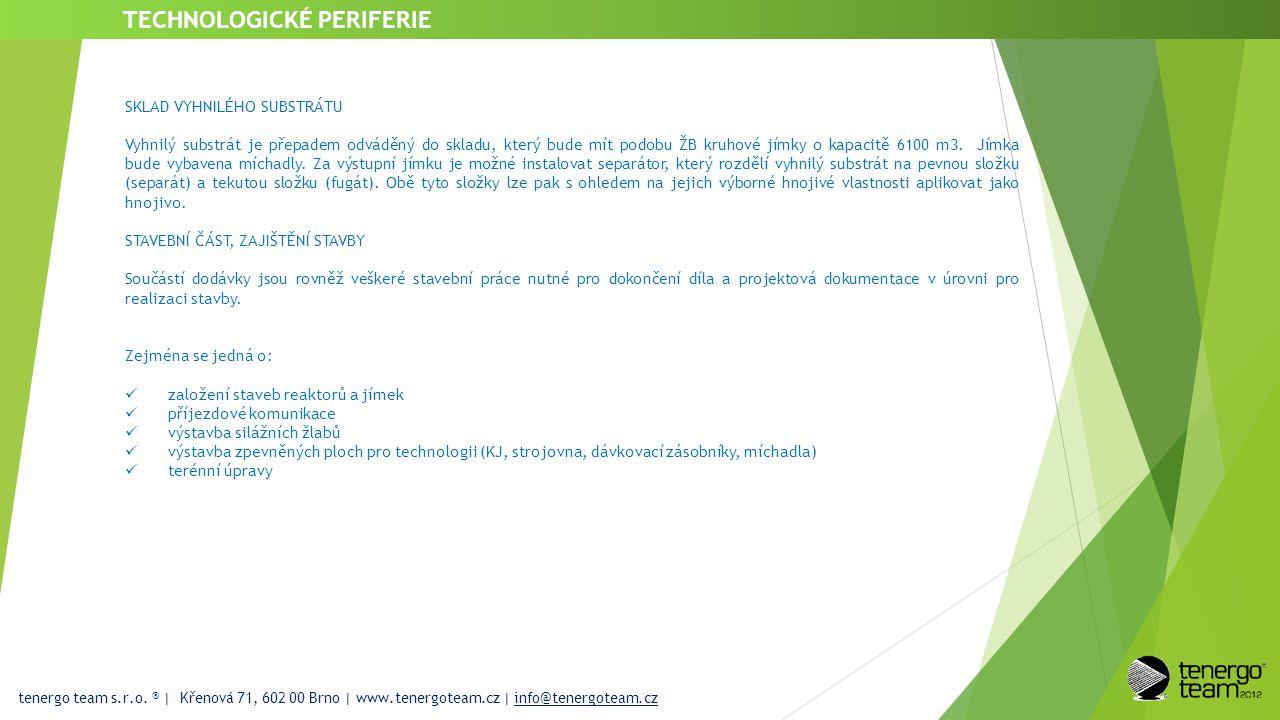 tenergo team s.r.o. ® | Křenová 71, 602 00 Brno | www.tenergoteam.cz | info@tenergoteam.cz TECHNOLOGICKÉ PERIFERIE SKLAD VYHNILÉHO SUBSTRÁTU Vyhnilý s