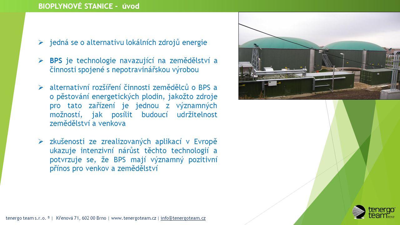 BIOPLYNOVÉ STANICE - úvod  jedná se o alternativu lokálních zdrojů energie  BPS je technologie navazující na zemědělství a činnosti spojené s nepotr