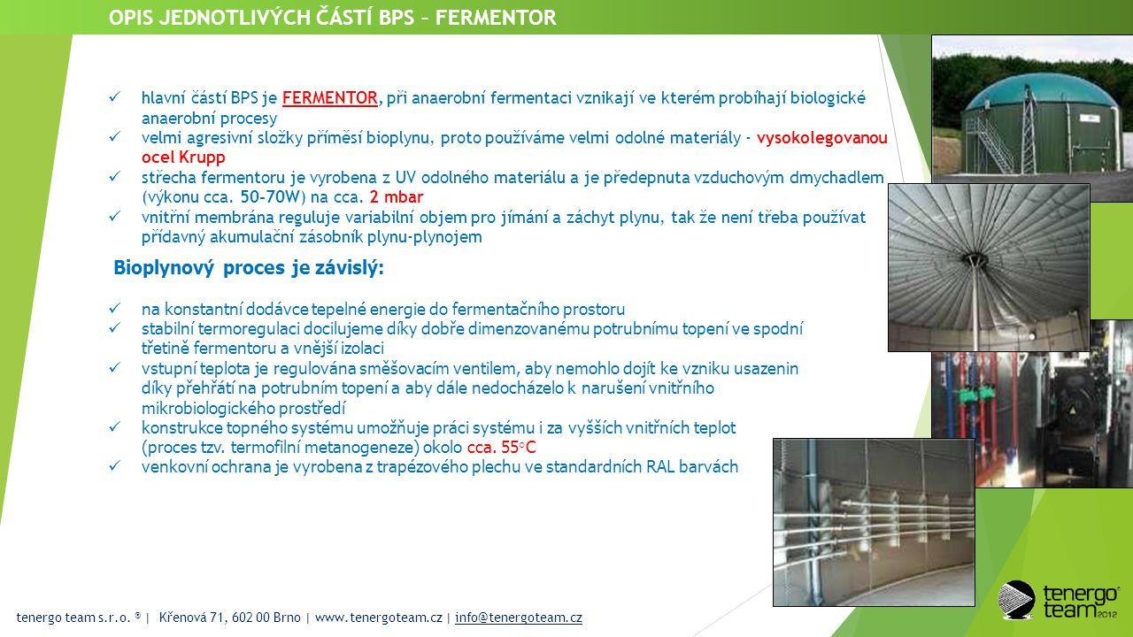 tenergo team s.r.o. ® | Křenová 71, 602 00 Brno | www.tenergoteam.cz | info@tenergoteam.cz OPIS JEDNOTLIVÝCH ČÁSTÍ BPS – FERMENTOR  hlavní částí BPS