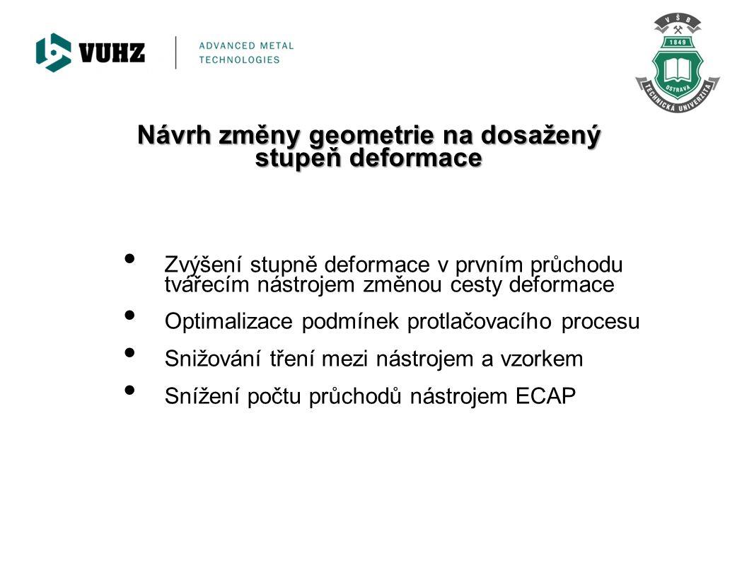 Konstrukční návrh protlačovacího nástroje s vychýlenou výstupní částí o 10° a 20° NÁVRH UKÁZKA REALIZACE