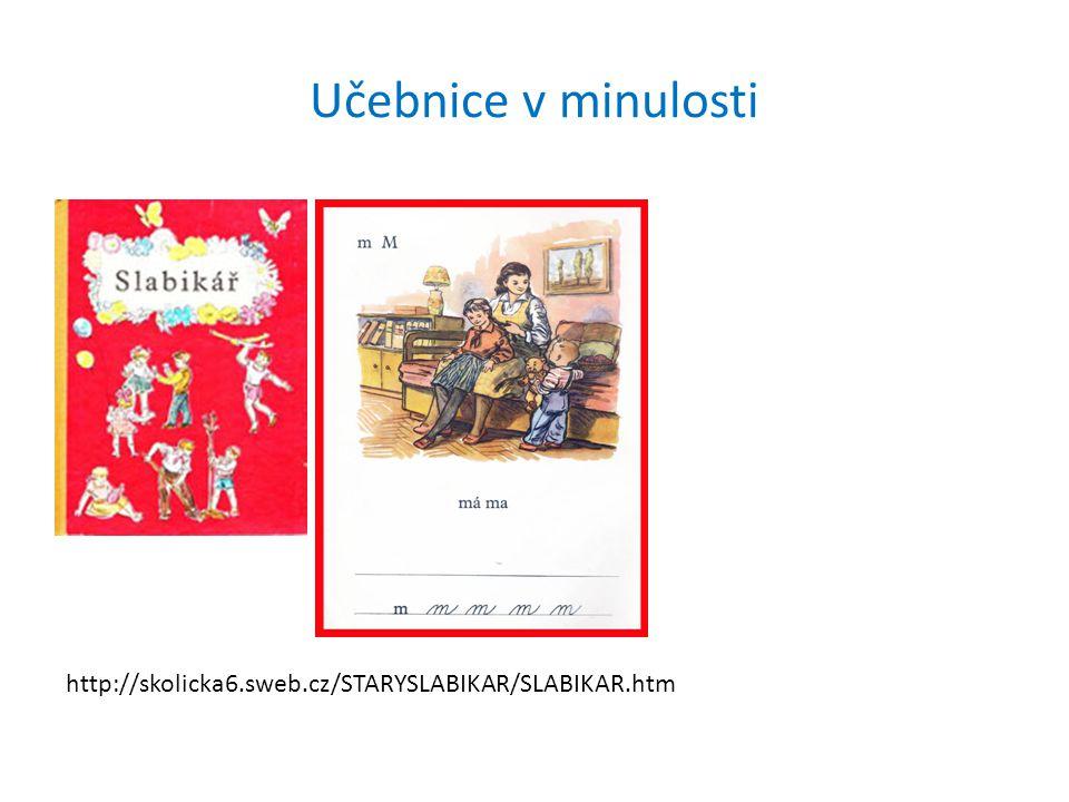 Učebnice v minulosti http://skolicka6.sweb.cz/STARYSLABIKAR/SLABIKAR.htm