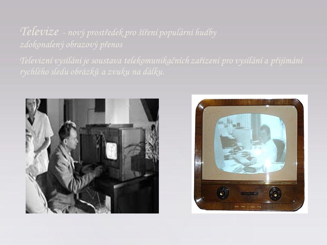 Televizní vysílání je soustava telekomunikačních zařízení pro vysílání a přijímání rychlého sledu obrázků a zvuku na dálku. Televize - nový prostředek