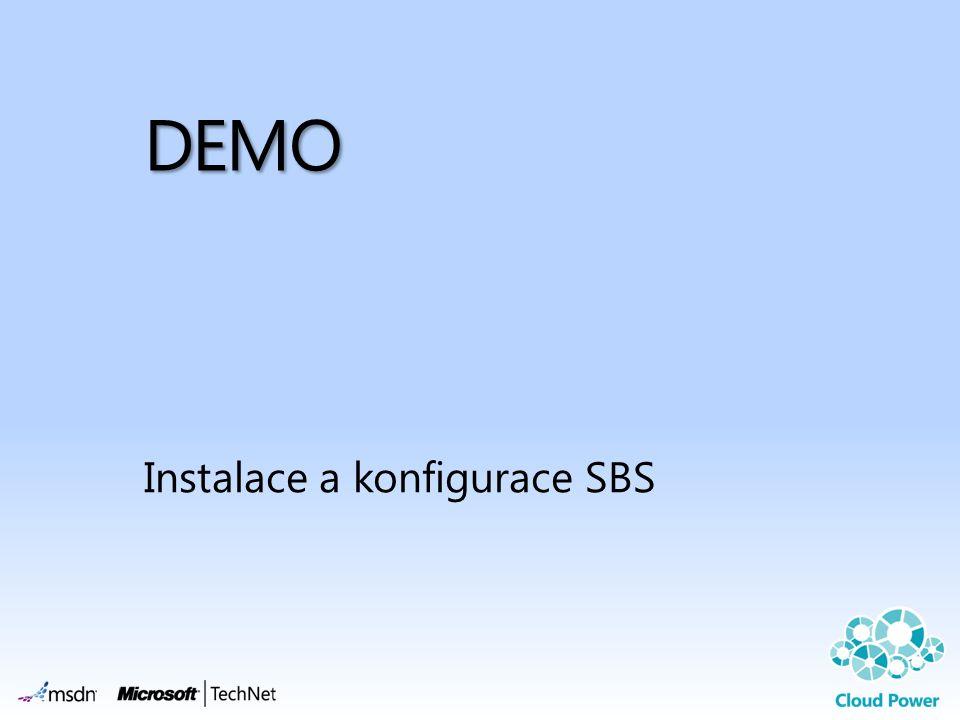 DEMO Instalace a konfigurace SBS