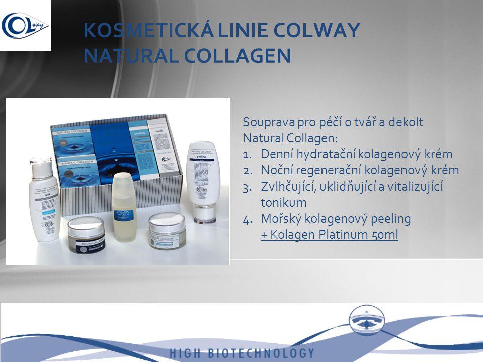 KOSMETICKÁ LINIE COLWAY NATURAL COLLAGEN Souprava pro péčí o tvář a dekolt Natural Collagen: 1.Denní hydratační kolagenový krém 2.Noční regenerační ko