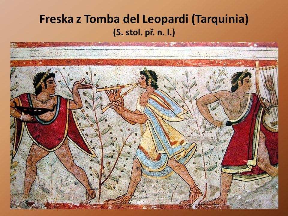Freska z Tomba del Leopardi (Tarquinia) (5. stol. př. n. l.)