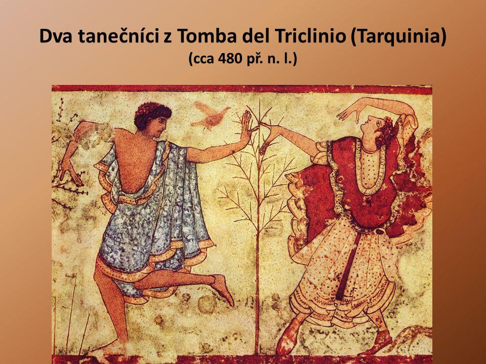 Dva tanečníci z Tomba del Triclinio (Tarquinia) (cca 480 př. n. l.)