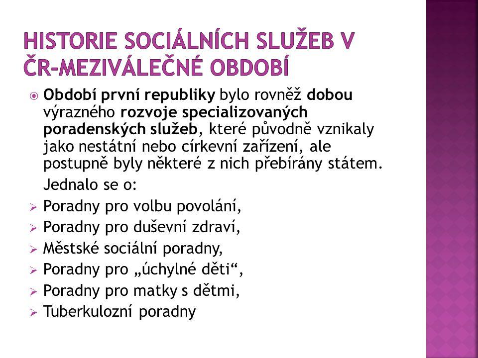  Přijetím nového zákona o sociálním zabezpečení:  Sociální péče se poskytovala občanům:  se změněnou pracovní schopností,  občanům těžce poškozeným na zdraví a  starým občanům.