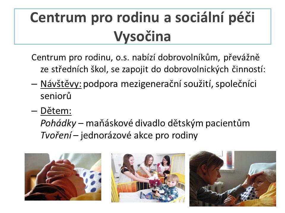 Centrum pro rodinu a sociální péči Vysočina Centrum pro rodinu, o.s.