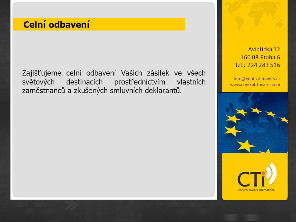 CTiX ™ Aviatická 12 160 08 Praha 6 Tel.: 224 283 516 info@control-towers.cz www.control-towers.com Náš nejnovější online IT systém, který poskytuje plnou interaktivitu a viditelnost všem článkům v logistickém řetězci.