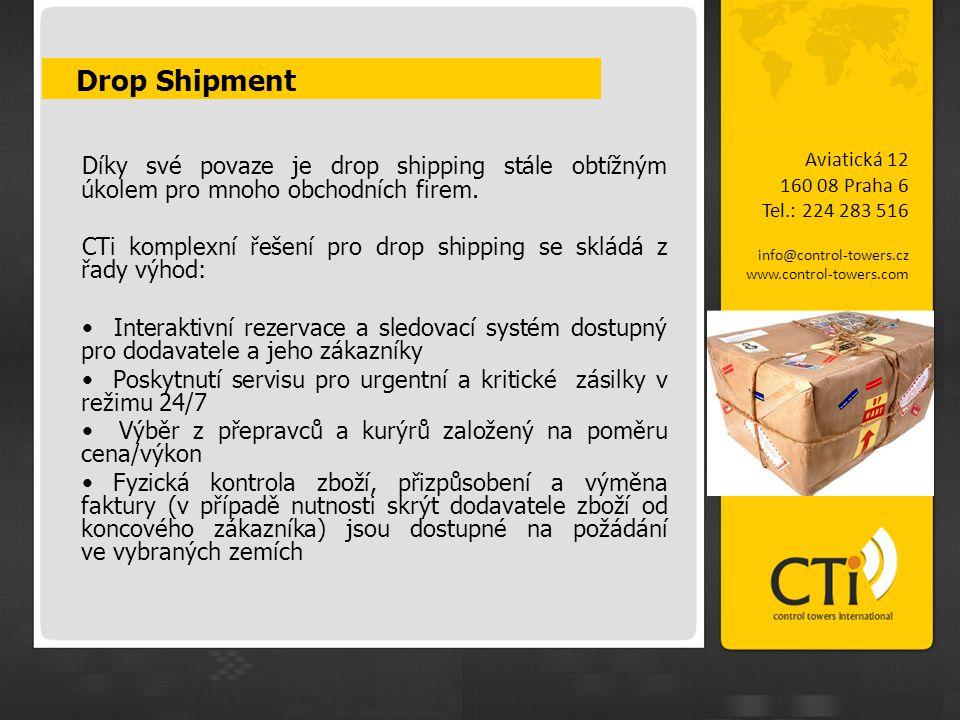 Drop Shipment Díky své povaze je drop shipping stále obtížným úkolem pro mnoho obchodních firem. CTi komplexní řešení pro drop shipping se skládá z řa