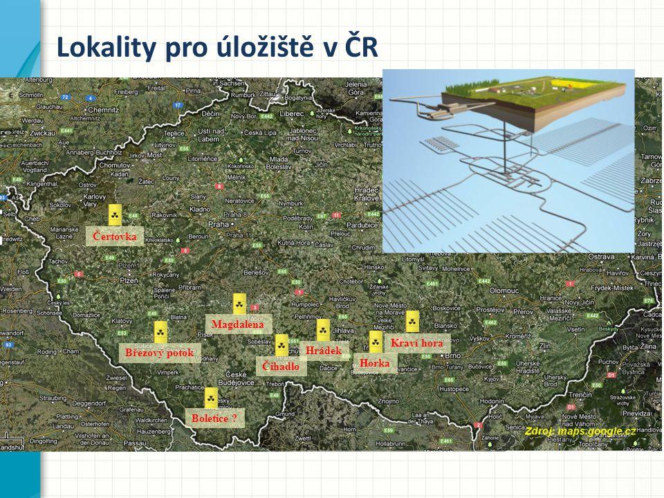 Lokality pro úložiště v ČR Boletice .