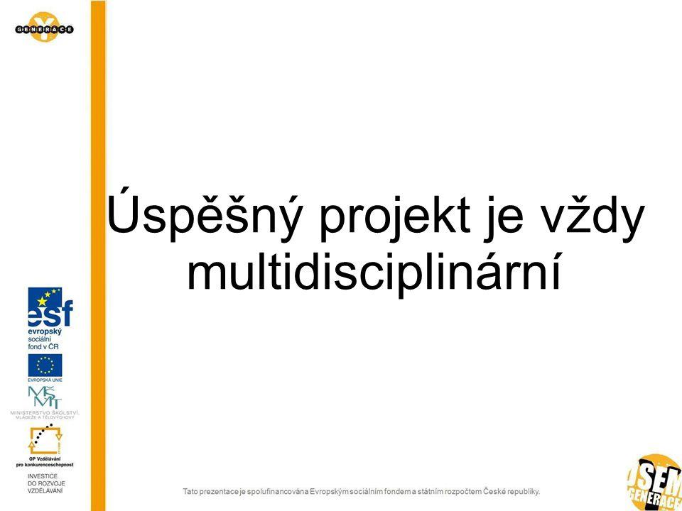 Úspěšný projekt je vždy multidisciplinární