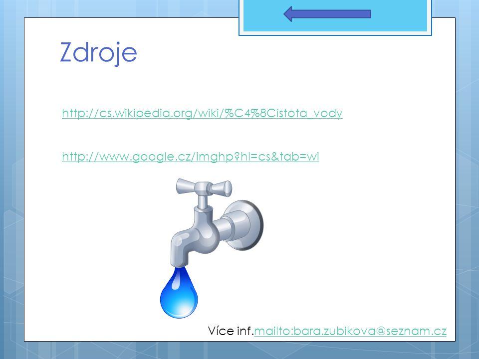 Děkuji za pozornost Voda