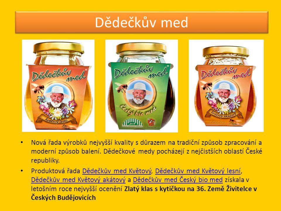 Dědečkova pochoutka • Série medových lahůdek - Dědečkova pochoutka Jahody s medem, Dědečkova pochoutka Vlašské ořechy s medem a Dědečkova pochoutka Brusinky a kešu s medem.