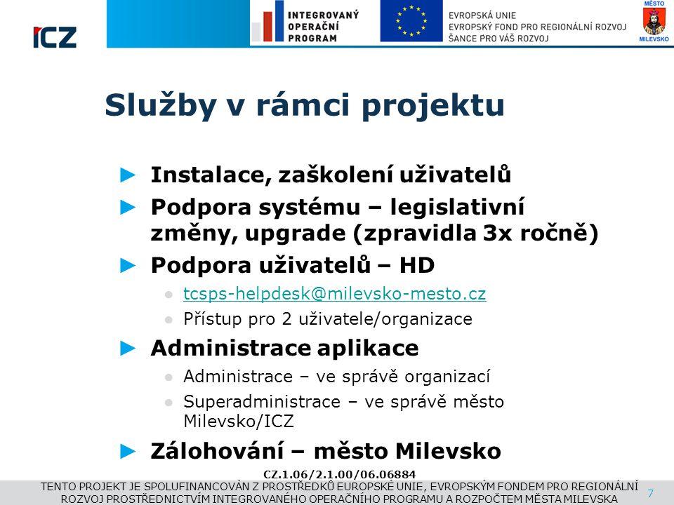www.i.cz Služby v rámci projektu ► Instalace, zaškolení uživatelů ► Podpora systému – legislativní změny, upgrade (zpravidla 3x ročně) ► Podpora uživa