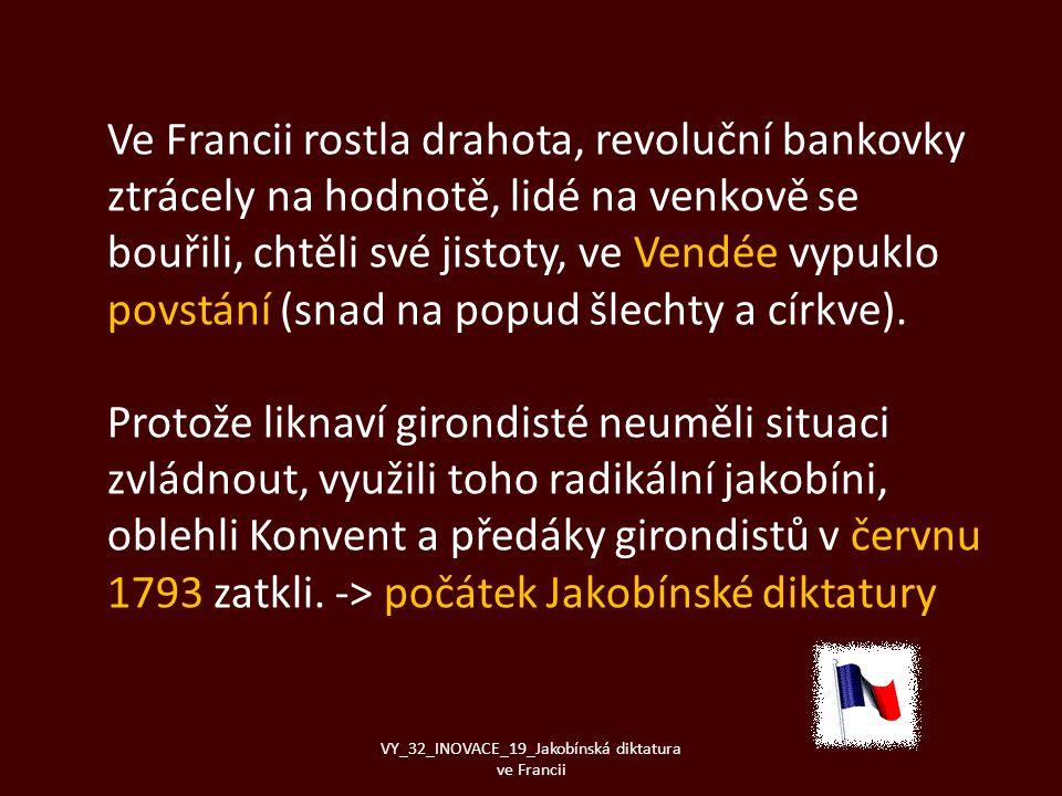 Ve Francii rostla drahota, revoluční bankovky ztrácely na hodnotě, lidé na venkově se bouřili, chtěli své jistoty, ve Vendée vypuklo povstání (snad na