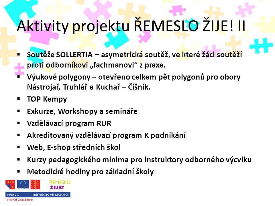 Aktivity projektu ŘEMESLO ŽIJE.