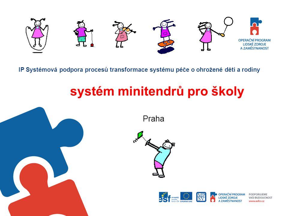 koncepce projektu, hlavní cíle rámcové smlouvy a dodavatelé témata poptávaných služeb systém zadávání program systém veřejných zakázek, aktuální situace možnosti zapojení škol