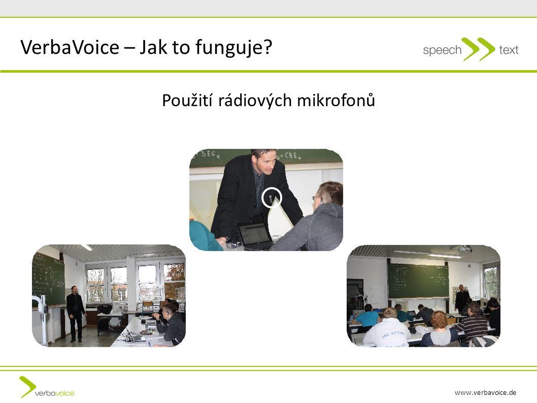 www.verbavoice.de Použití rádiových mikrofonů VerbaVoice – Jak to funguje